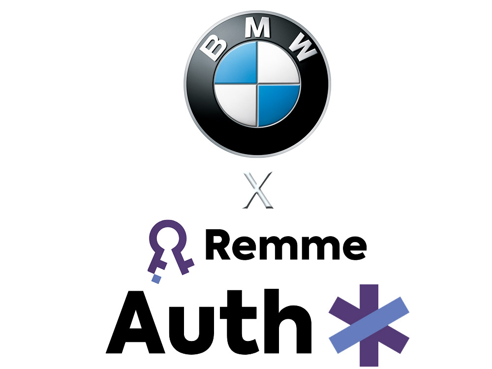 RemmeがBMWのパイロットプログラムをクリアした事を記念する双方のロゴ画像の組み合わせ