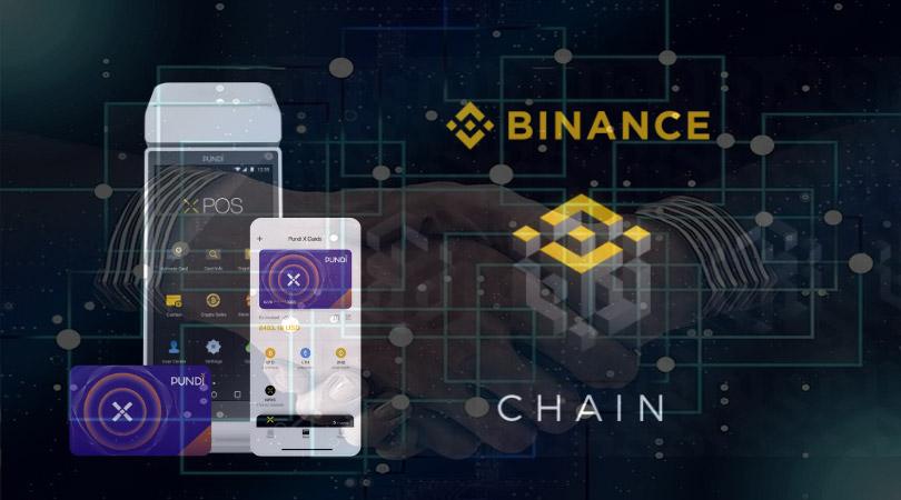 Binance ChainとPundiXのプラットフォーム統合を象徴する画像
