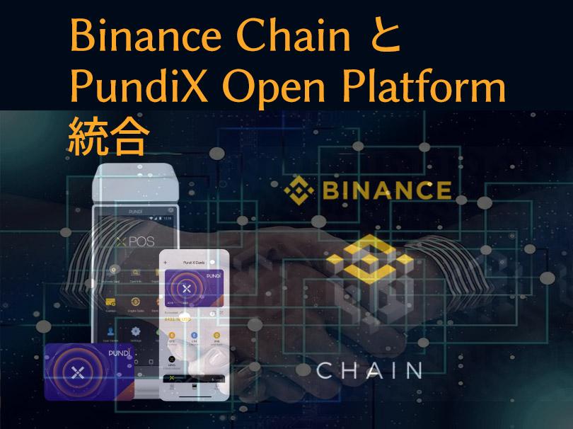 Binance ChainとPundi X Open Platformの統合を象徴するアイキャッチ画像