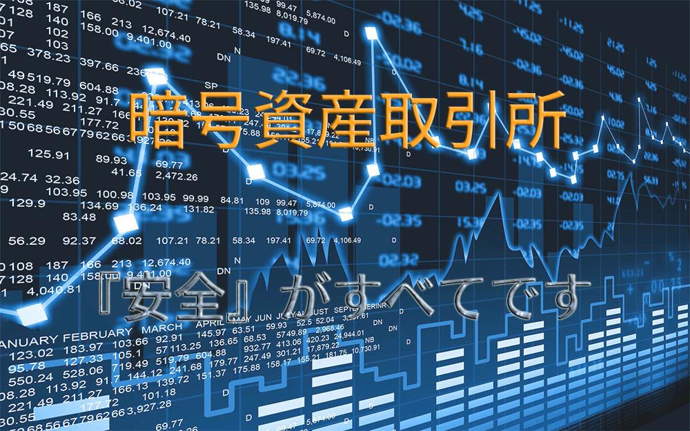 暗号資産取引所のイメージ画像と『安全』を強調したタイトル